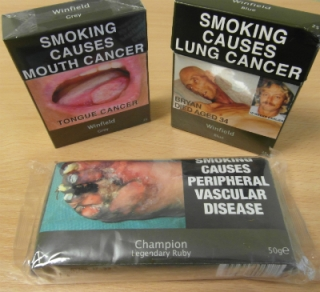 assortment of tobacco plain packs from australia