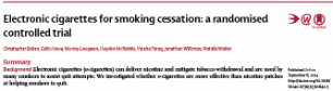 image of the abstract of the randomised controlled trial comparing e-cigarettes to nicotine patch